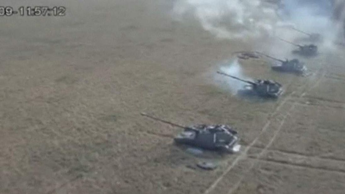 Intense fighting between separatists and government forces on the outskirts of Ukraine