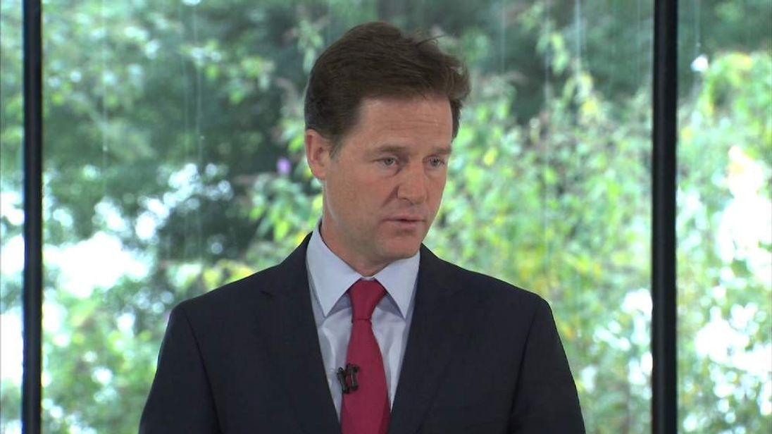 Nick Clegg talks about his position on the Gaza conflict