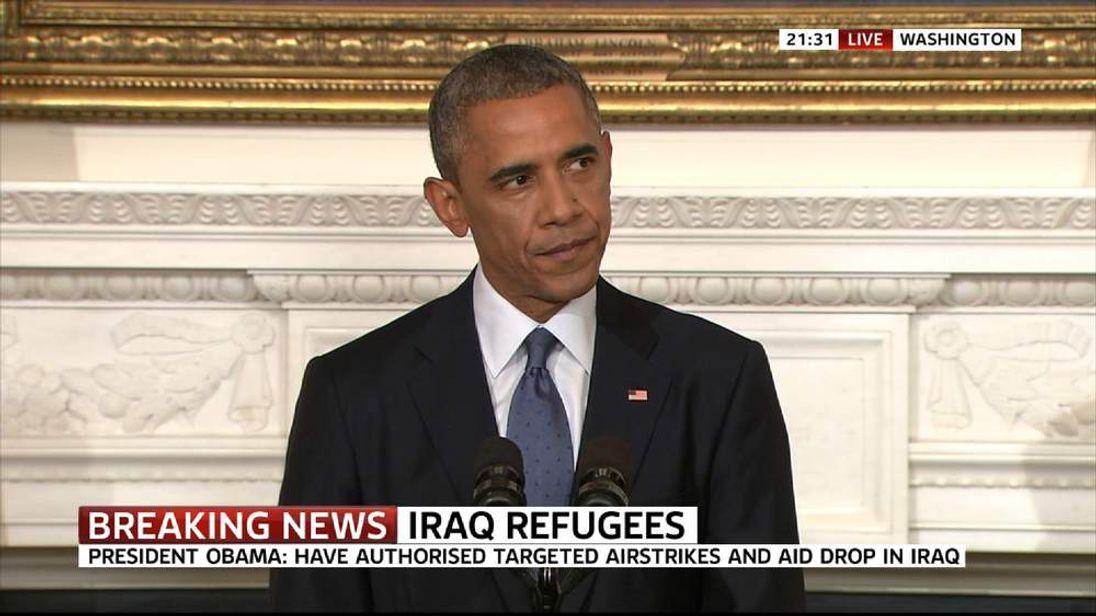 Barack Obama On Iraq Strikes