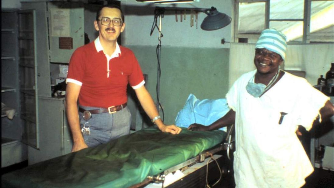 Dr Tom Cairns, who contracted ebola virus during the 1970s