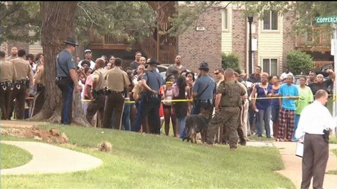 Scene of Michael Brown's shooting