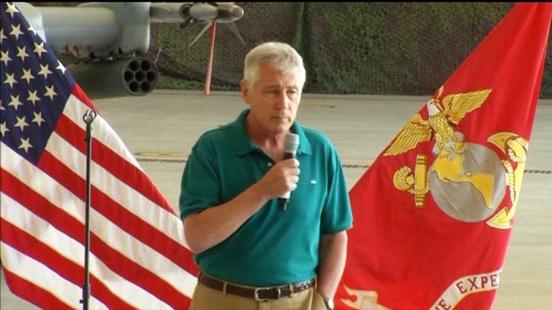 Defence Secretary Chuck Hagel Announces US Advisers Sent To Iraq