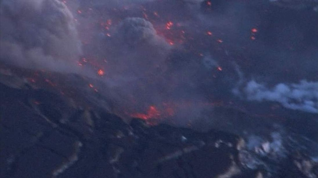 A volcano erupts in Iceland in 2010, causing widespread disruption to flights
