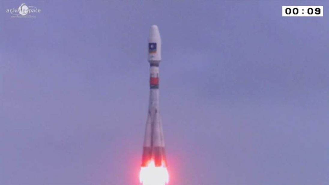 The satellites were launched on a Soyuz rocket.