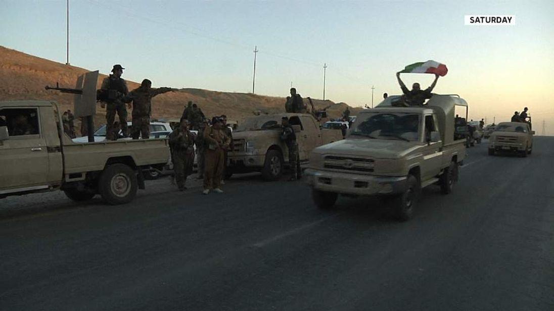 Peshmerga forces in northern Iraq
