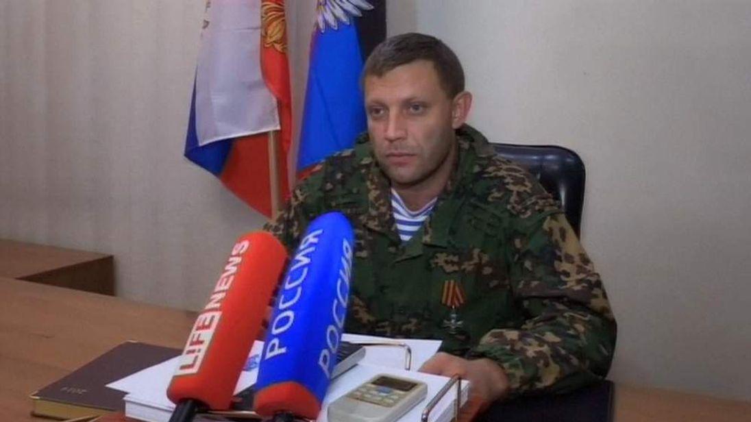LEADER, DONETSK PEOPLE'S REPUBLIC ALEXANDER ZAKHARACHENKO