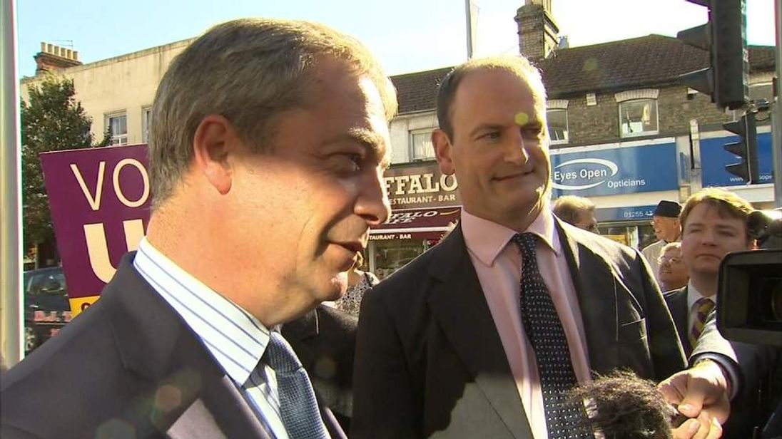 Douglas Carswell and Nigel Farage visit Clacton constituency after defection