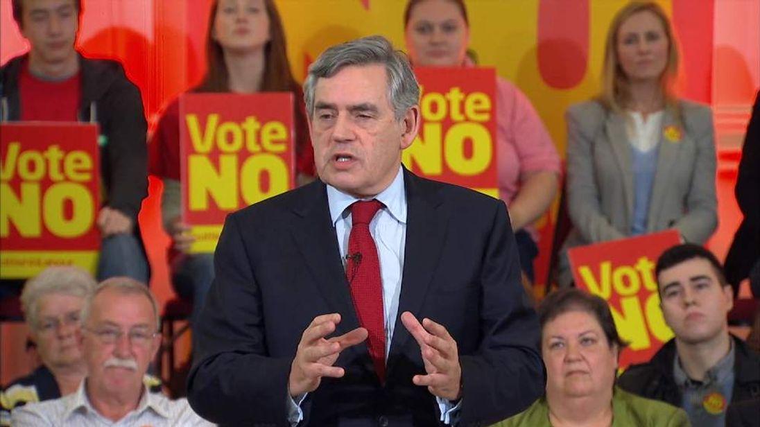 Gordon Brown speaks about the Scottish referendum