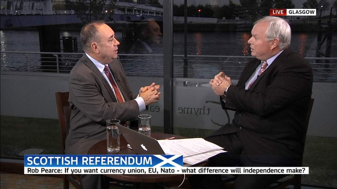 Alex Salmond and Adam Boulton