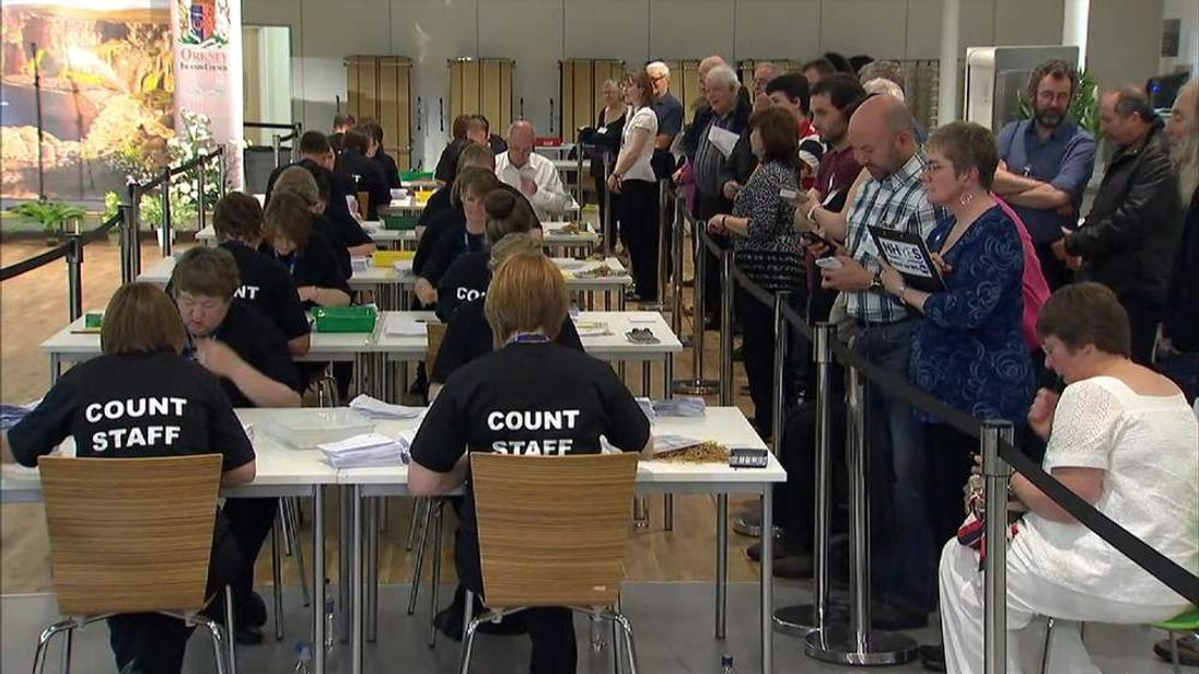 Orkney count continues amid huge turnout