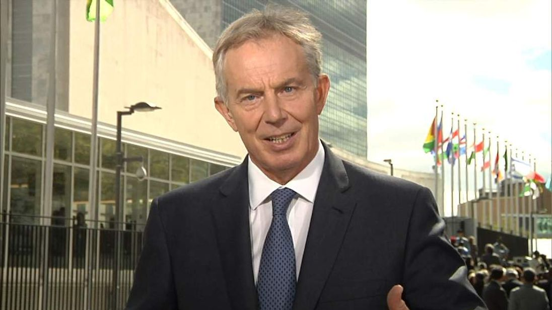 Tony Blair in New York
