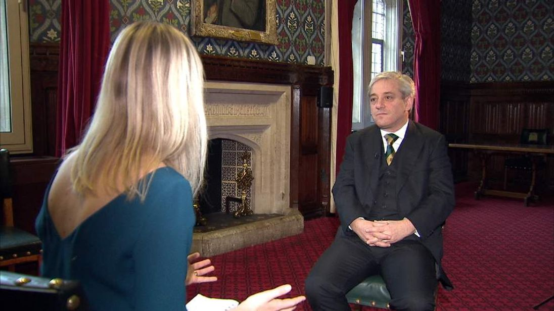 Sophy Ridge interviews John Bercow ahead of this year's UK Youth Parliament