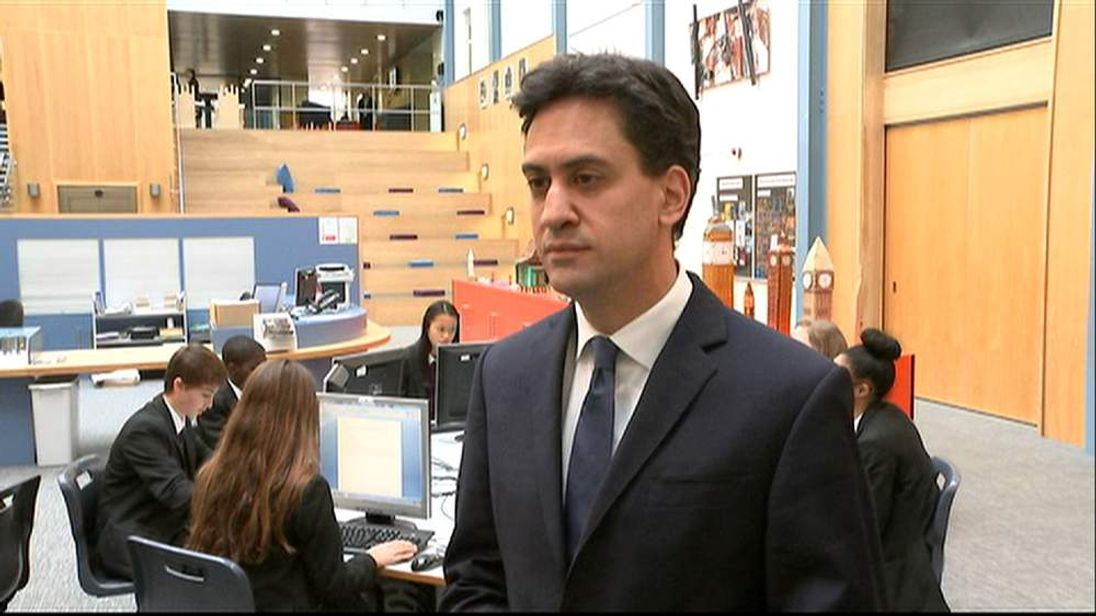 Labour leader Ed Miliband talk about Rochester and Strood.