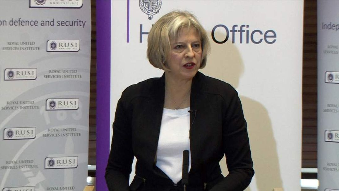 Theresa May speaks about the terror threat facing the UK