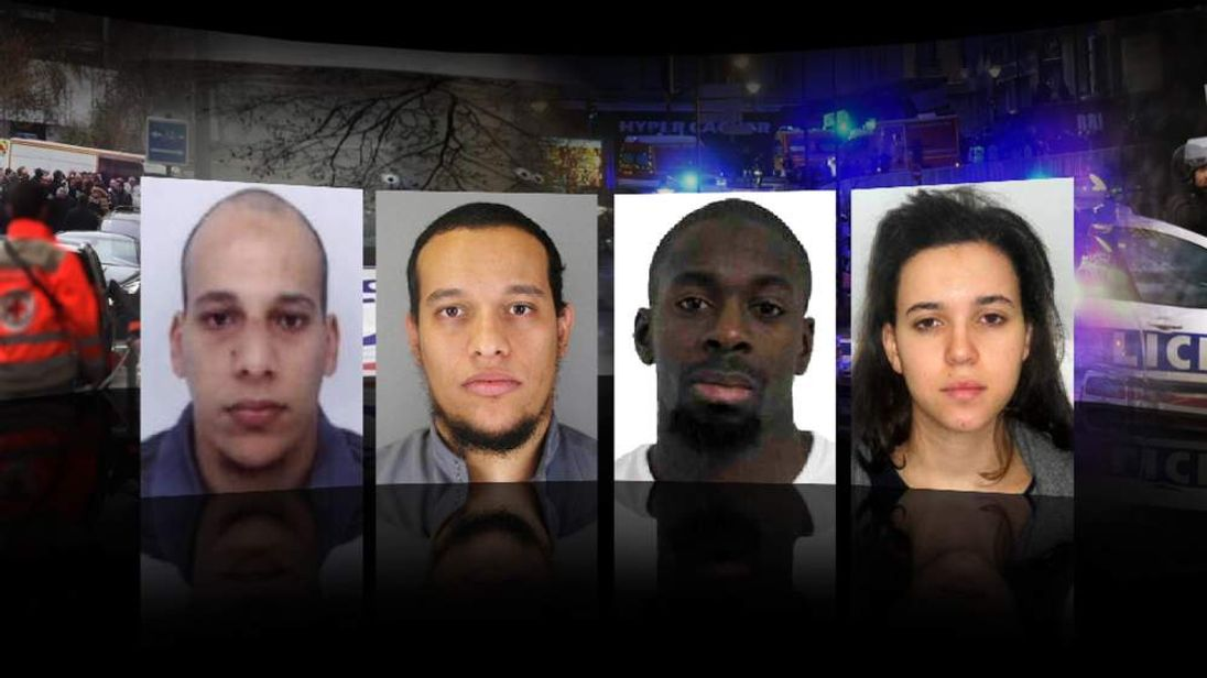 Four terror suspects in Paris attacks