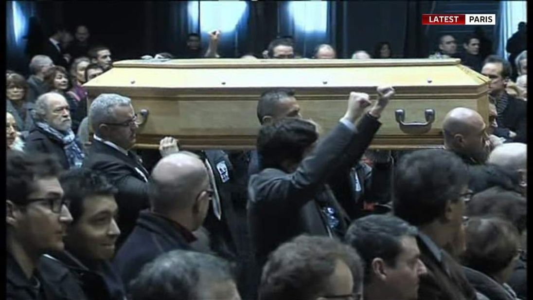 Funeral of Stephane Charbonnier