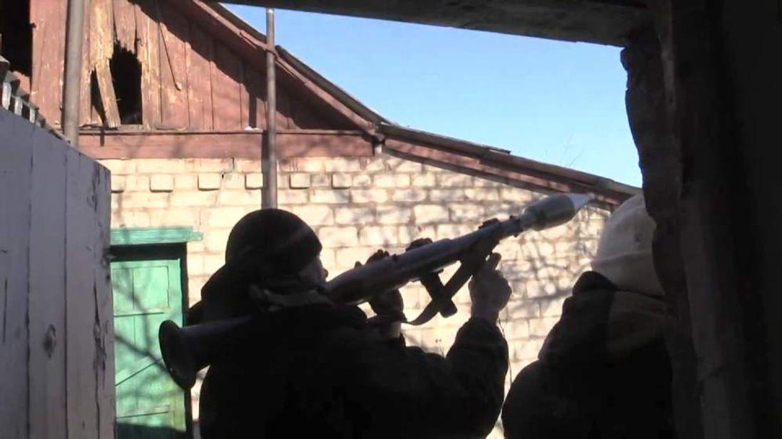 Pro-Russian rebels attacked by Ukrainian troops outside Debalseve, Ukraine