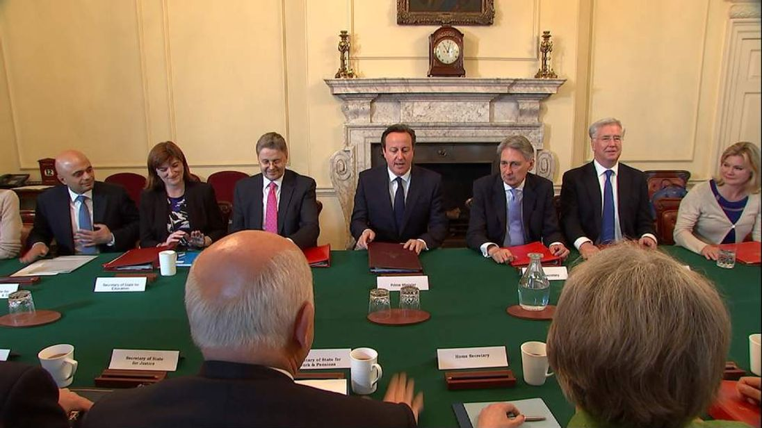 David Cameron with new Cabinet