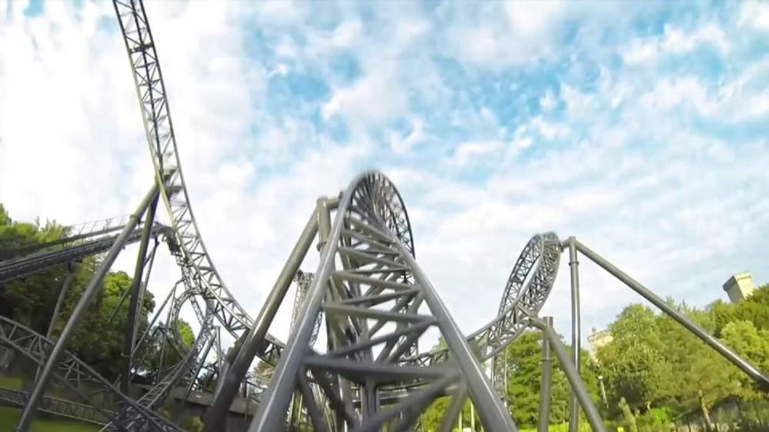 screengrab of smiler ride from Alton Towers footage