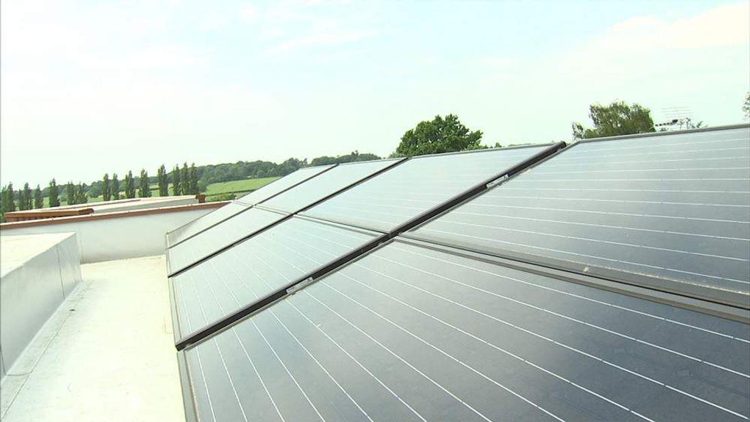 solar panels on roof for swipe