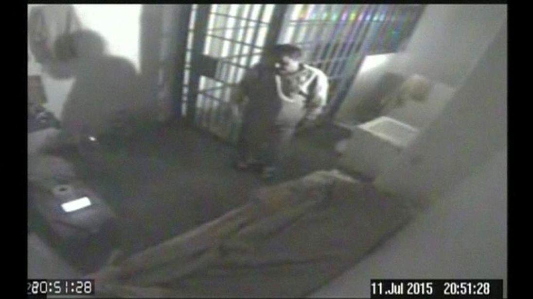 "CCTV of Joaquin ""El Chapo"" Guzman's cell at the Altiplano maximum security prison"
