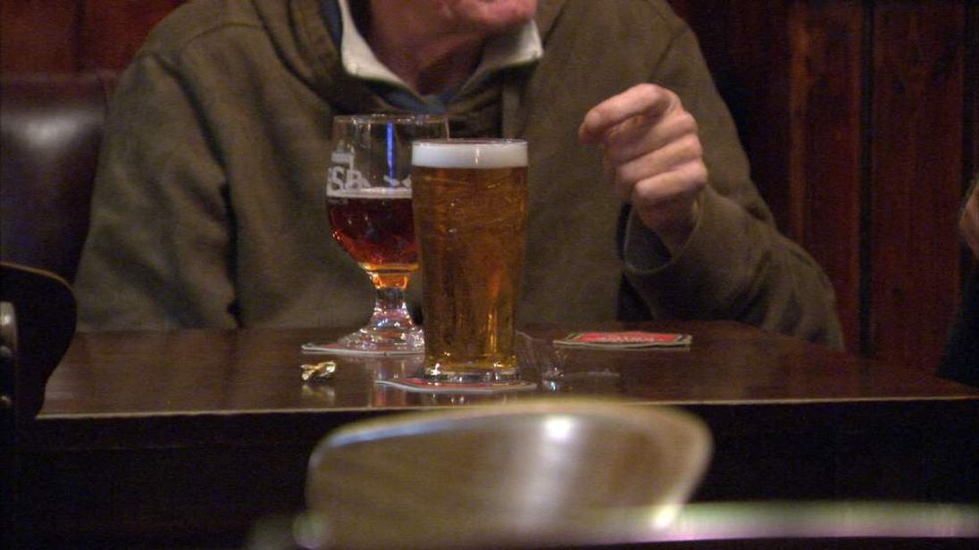 pensioner drinking