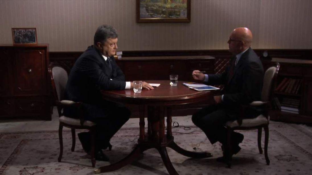 Petro Poroshenko and Sam Kiley