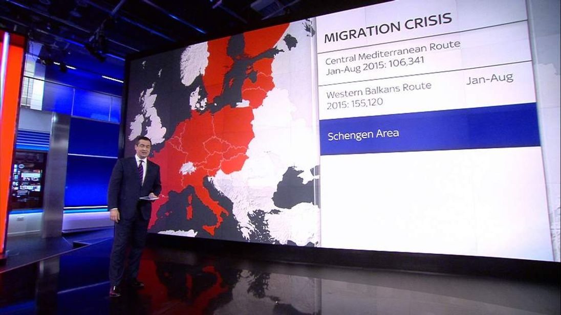 Sky's Niall Paterson takes a closer look at how thousands of people have been moving across Europe