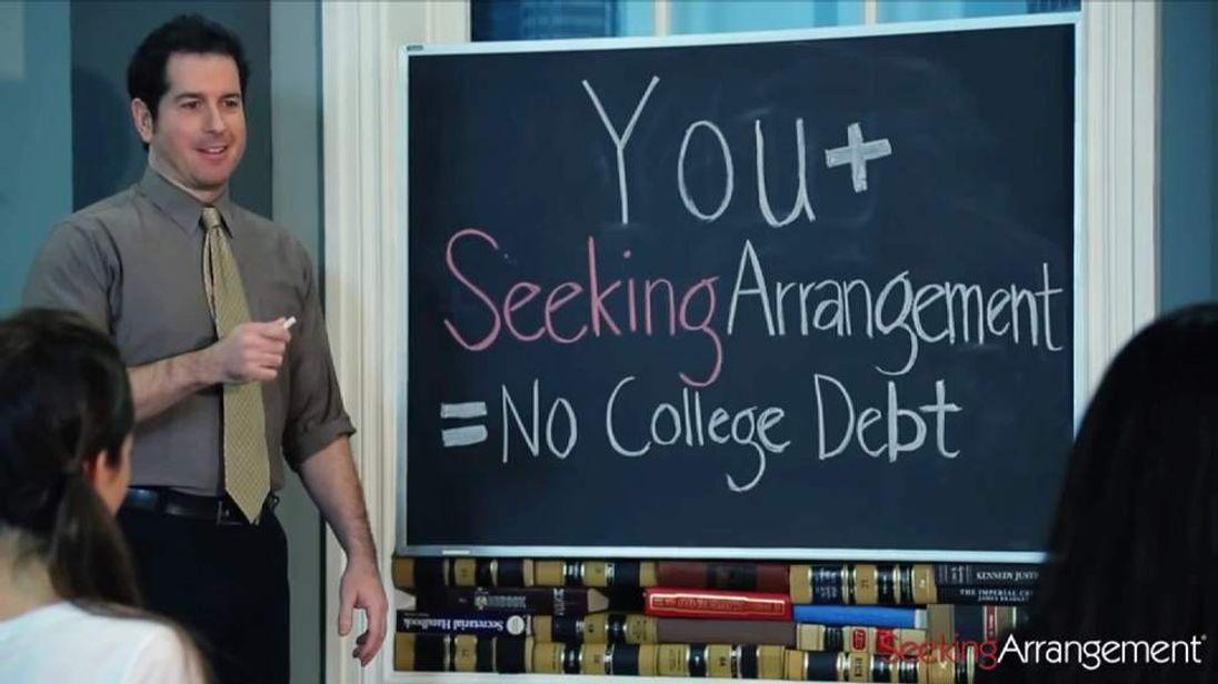 Sugar baby advert promising students no debt after graduation