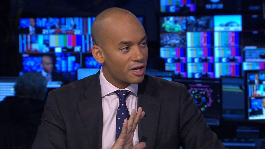 Chuka Umunna, Labour MP, talks about Syria airstrikes with Sky News