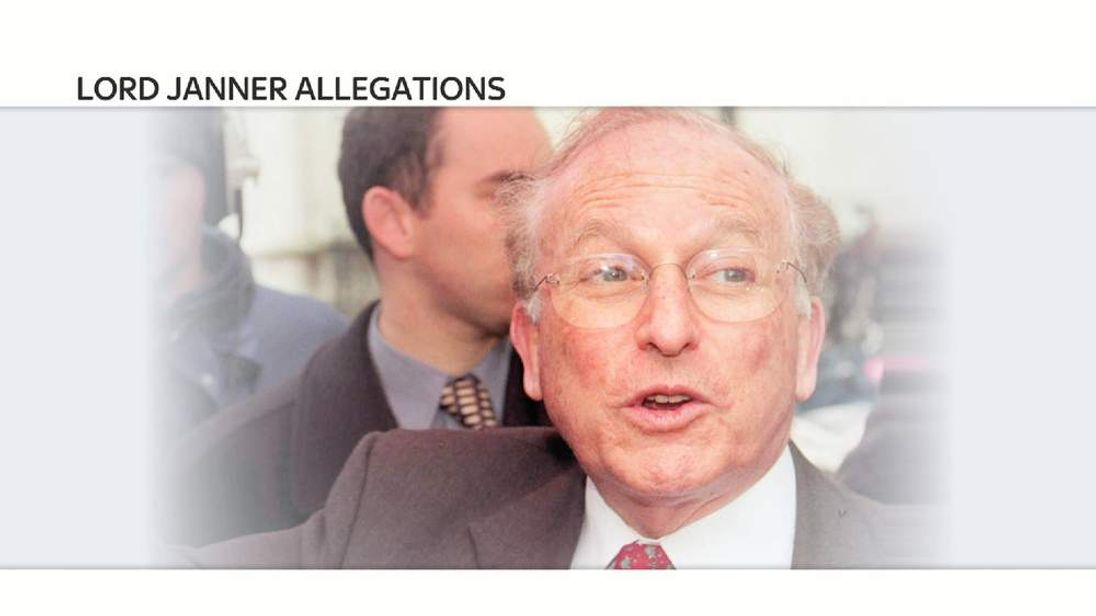 Series Of Events Leading Up To Lord Janner's Death