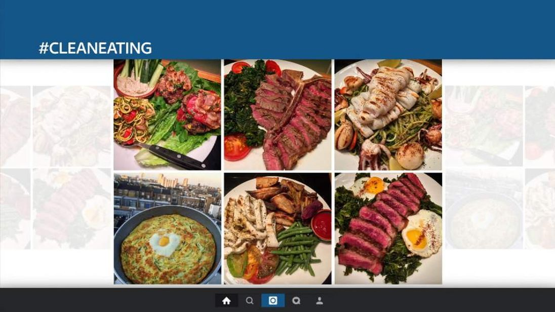 There are 17 million posts using the hashtag #cleaneating on Instagram