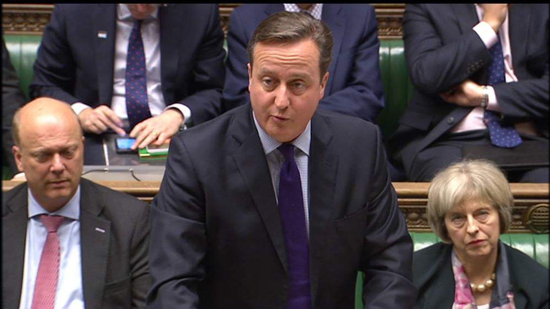 Prime Minister David Cameron updates MPs on EU renegotiations