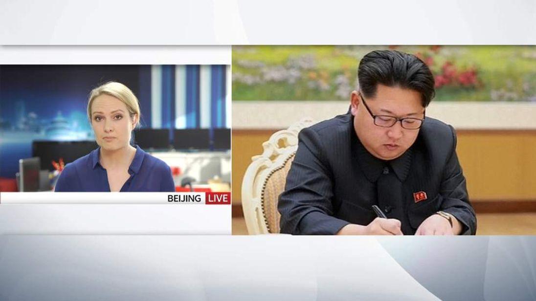 Katie Stallard North Korea live Ethan screen grab