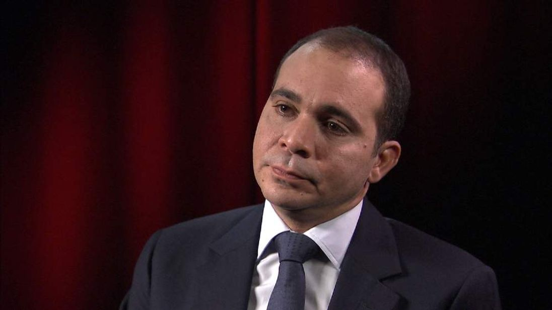 FIFA Presidential candidate Prince Ali Bin Al Hussein talking to Sky News