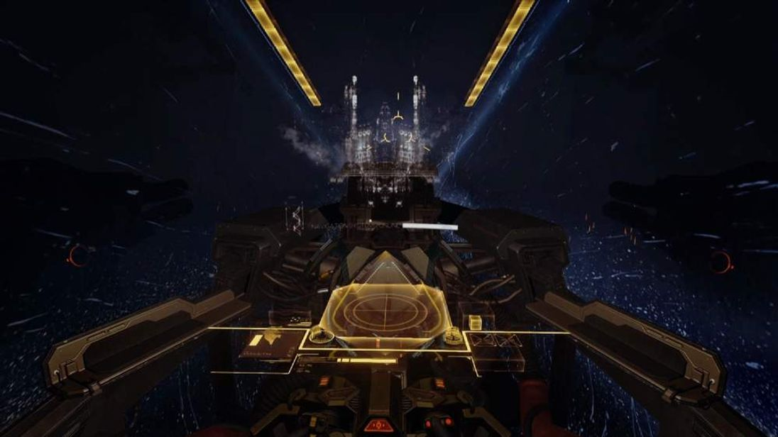 Scene from virtual reality game Valkyrie