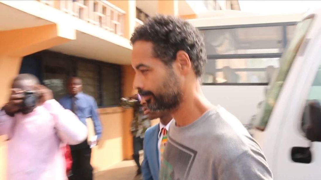 Arthur Simpson-Kent partney of Sian Blake in Court in Ghana