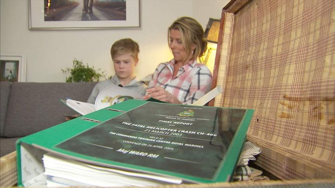 Jason Ward and May-Helen Forsberg with the report into the death of Jason's father