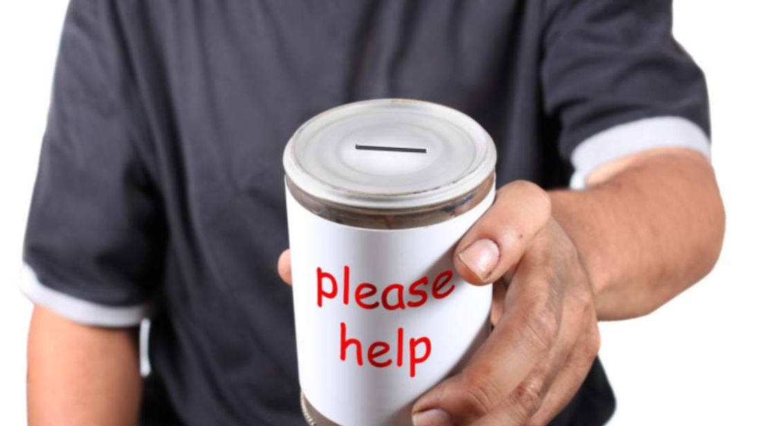Fewer than half of men give to charity