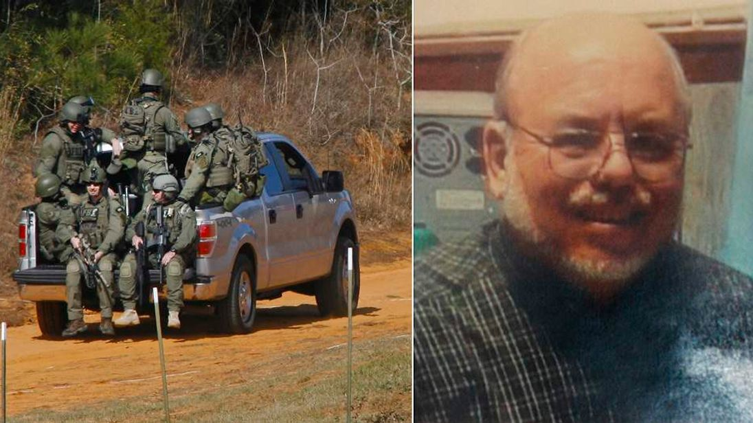 Bus driver Charles Poland (R) was shot dead on his school bus in Alabama