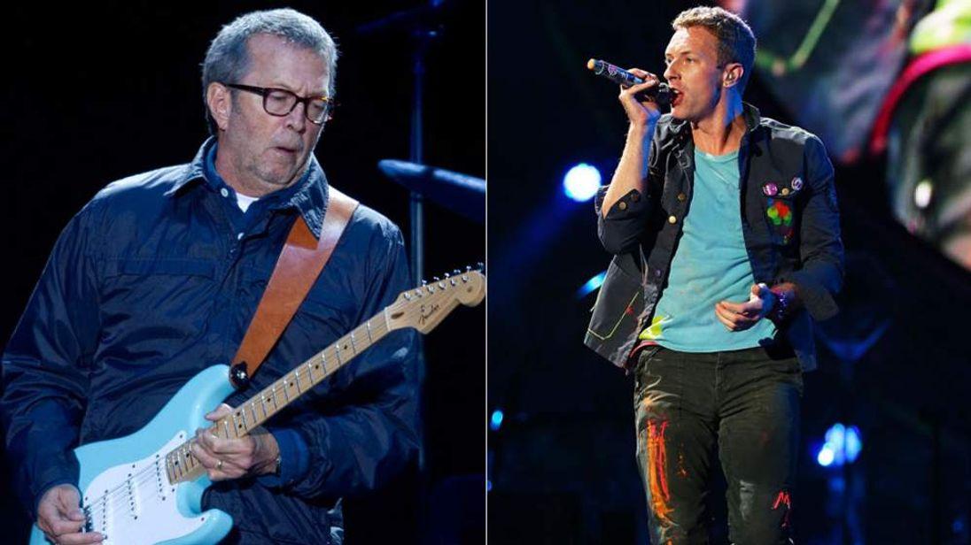 Eric Clapton and Chris Martin