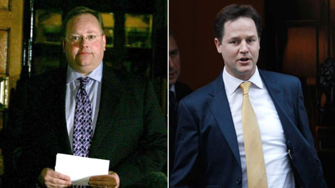 Lord Rennard and Nick Clegg