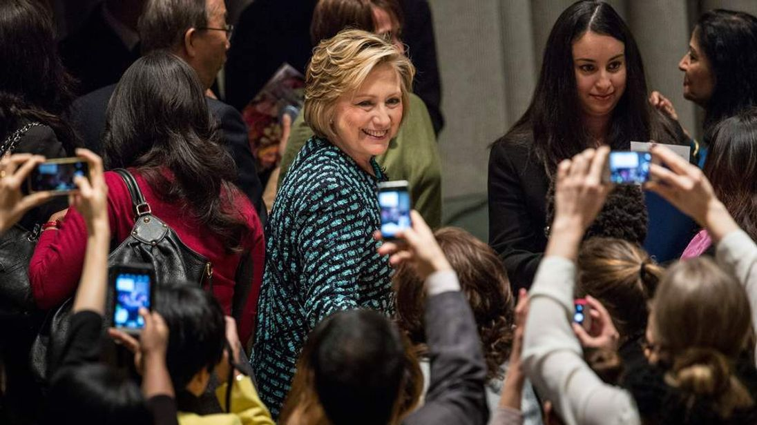 Hillary Clinton Speaks At UN International Women's Day Event