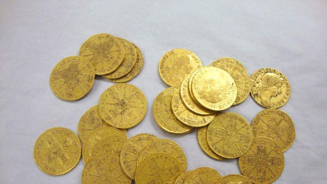 Gold coins found underneath floorboards