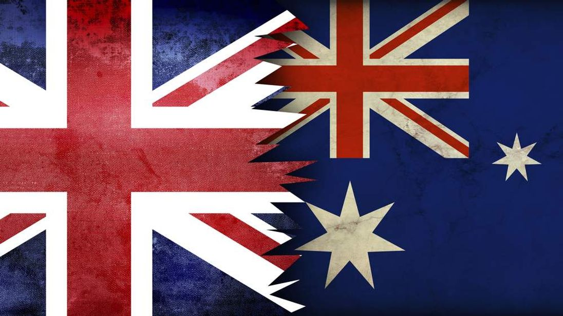 Australia and UK flags