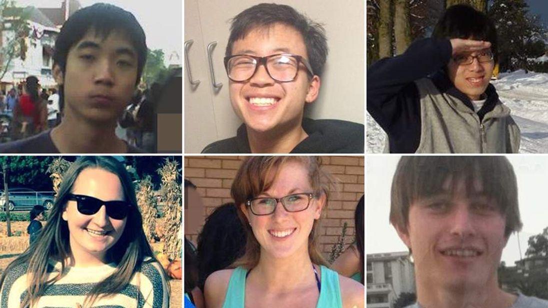 California killing spree victims