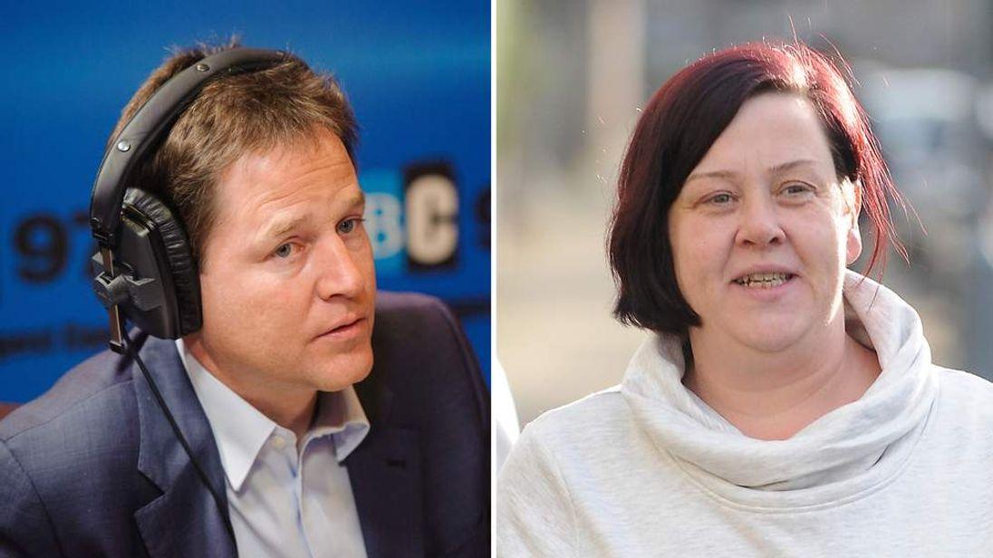 Deputy Prime Minister Nick Clegg and Deirdre Kelly