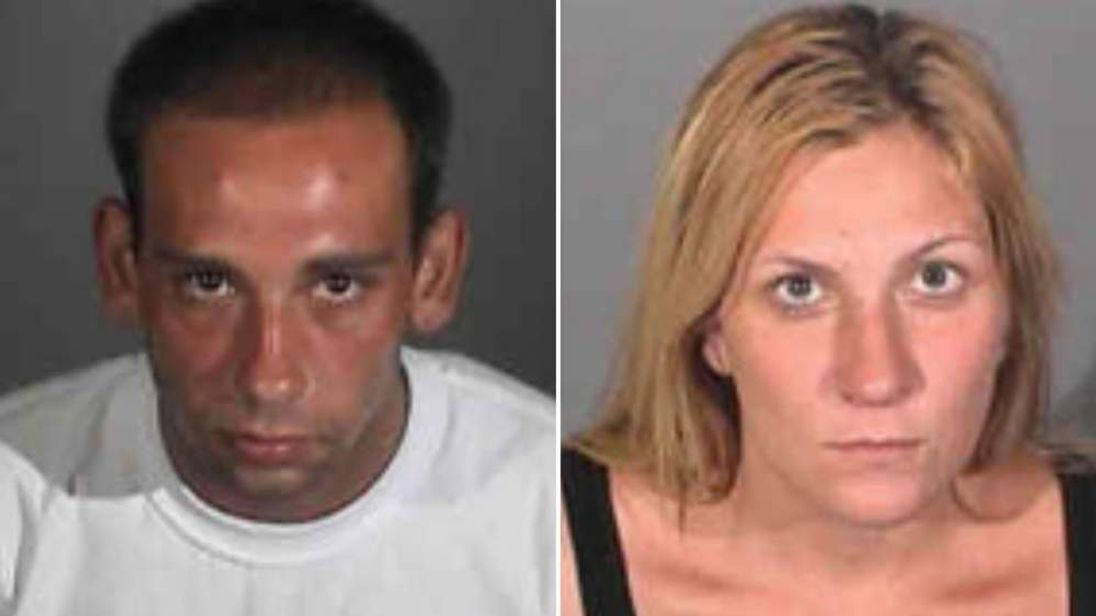Gus Adams, 26, left and Andrea Miller, 28