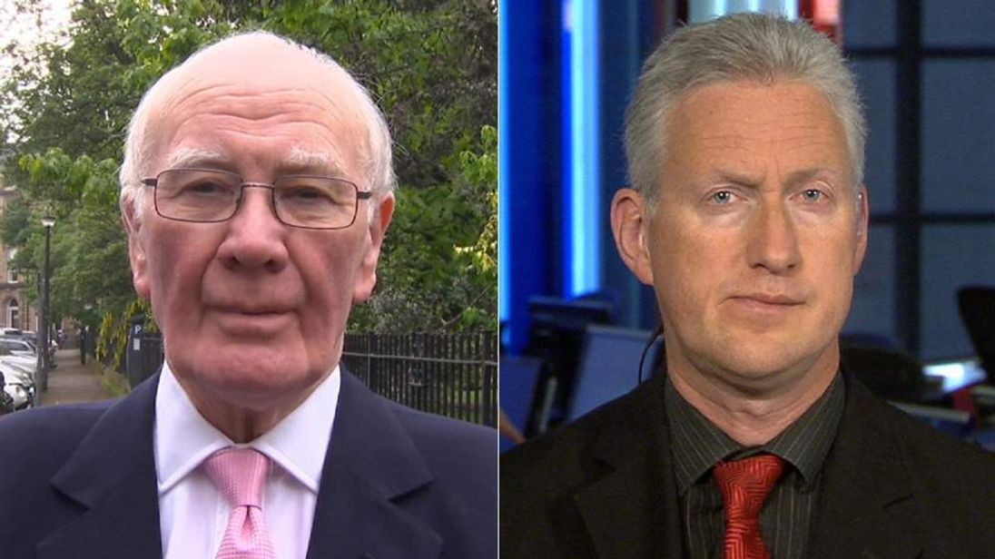 Liberal Democrats Menzies Campbell (L) and Lembit Opik