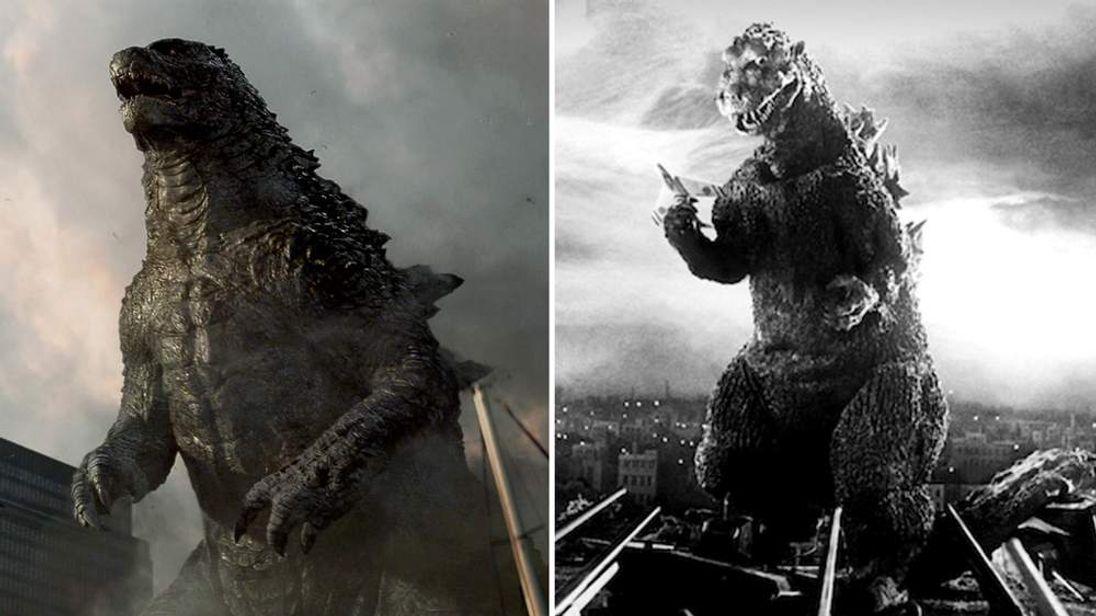 Godzilla in a scene from the film.  ©  Warner Bros and Toho Co. Ltd.